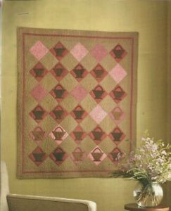 J0095 ANTIQUE BASKETS WALL HANGING QUILT PATTERN INSTRUCTIONS $1.00