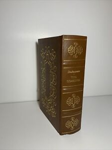1986 THE COMEDIES OF WILLIAM SHAKESPEARE Genuine Leather Bound Book Easton Press