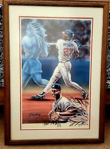 A. Lee Bivens Framed Signed Limited Edition Lithograph of Braves Fred McGriff $249.99
