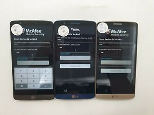 Lot of 3 LG G3 LS990 Sprint Check IMEI GLC TO 1209