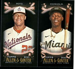 2021 Topps Allen and Ginter X Mini Black #1 350 W RC SP PICK TO COMPLETE SET $0.99