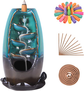 SOLEJAZZ Waterfall Incense Burner Backflow Incense Holder Incense Fountain with $21.54