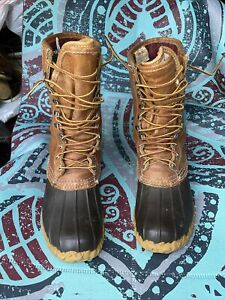 L.L BEAN MAINE HUNTING THINSULATE GORE TEX WATERPROOF LEATHER 10quot; Boots 7M