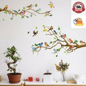 Birds Wall Decals Decorations DIY Wall Stickers Over The Garden Wall Colorful