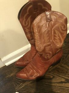 Justin Brown Cowboy Boots Size 12