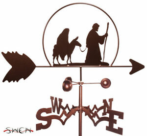 SWEN Products MARY and JOSEPH CHRISTMAS Steel Weathervane
