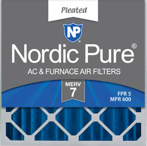 Nordic Pure 20x20x4 (3 58) Pleated MERV 7 Air Filter 1 Pack
