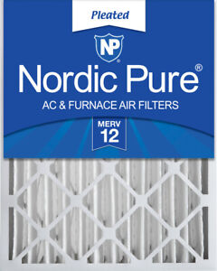 Nordic Pure 16x25x4 (3 58) Pleated MERV 12 Air Filter 1 Pack