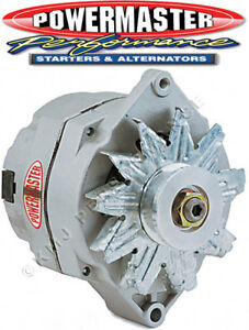 Powermaster 7294 GM 100 Amp 12SI Alternator w 1V-Pulley Natural Finish