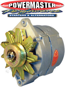 Powermaster 8006 GM 12SI Racing Alternator 100 Amp 16V One Wire Natural Smooth