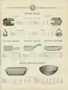 Catalog Page Ad Butter Molds Churns Ladles Bowls San Francisco California 1902