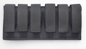Six Pack Black Magazine Pouch 6 Pack 9MM/40/45 DOUBLE STACKED MAGAZINES Federal