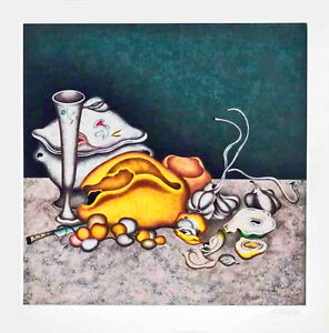 NOCTURNE IN GRAY amp; GOLD White Paper 80 Color Serigraph S N Mihail Chemiakin $950.00