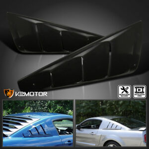 Fit 2005-2014 Ford Mustang 1/4 Quarter Side Window Louver Covers Black