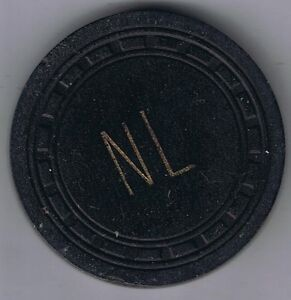 Northern Lounge Rectangle Mold No Denomination Black Casino Chip Ely Nevada 1950 $75.00