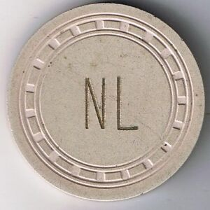 Northern Lounge Rectangle Mold No Denomination Tan Casino Chip Ely Nevada 1950s $75.00