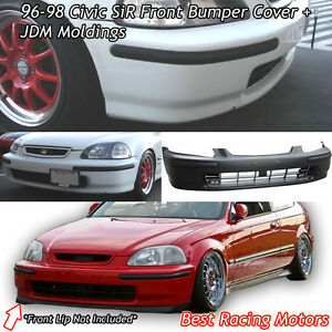 SIR Style Front Bumper Cover + JDM Molding Fits 96-98 Honda Civic 234dr