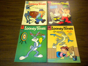 LOONEY TUNES & MERRIE MELODIES #232,234,235,238 Dell Comics 1961 lot BUGS BUNNY