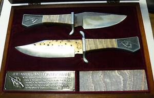 VINTAGE CUTLERY NEW YORK NY AMERICAN FRONTIERSMAN BOWIE KNIFE KNIVES f