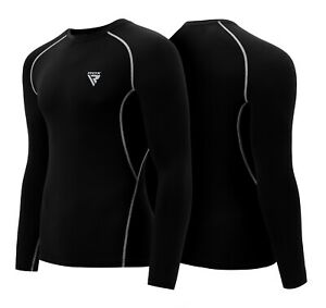 RDX MMA Rash Guard Weight Loss Running Sweat Shirt Mens Compression Gym Wear WJ