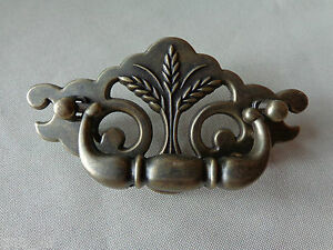 1 New Continental Brass Antique Brass Finish Wheat Drawer Swing Pull 3quot; Centers $4.00