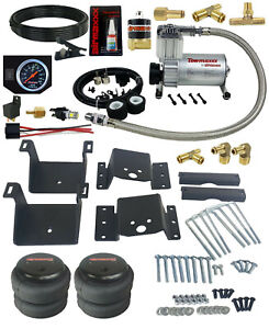 Air Helper Kit Black Gauge On Board Control For 2011 - 2017 Chevy 8 Lug Truck