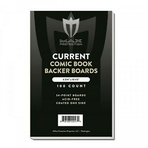 200 - MAX PRO CURRENT MODERN COMIC BOOK BACKING BOARDS 6-34 ACID FREE ARCHIVAL