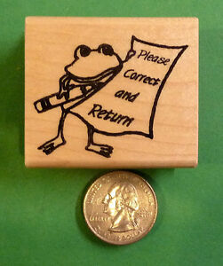 Please Correct and Return FROG Teacher#x27;s Wood Mounted Rubber Stamp