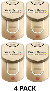 4Pk Purse Brite Lite Light LED Battery Powered As Seen On Lamp Click Touch Gold