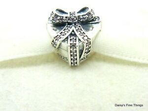 NEW AUTHENTIC PANDORA CHARM PINK WITH LOVE #791423PCZ RETIRED VALENTINES