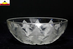 lalique french fruit bowl charger signed verrerie