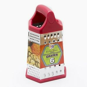 Cook's Corner 9 in. 6 Sided Stainless Steel Multi Purpose Grater Big Grip Handle