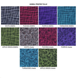 ANIMAL PRINTED Tulle Fabric Bolt 54