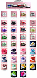 DOUBLE FACED SATIN Ribbon 50 100yards Roll 8 sizes 34 colors 100% polyester $10.99