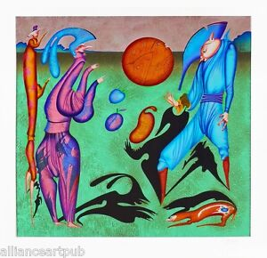 quot;SHADOWSquot; Specially Created Rare Mint 80 Color Serigraph S N By Mihail Chemiakin $2900.00