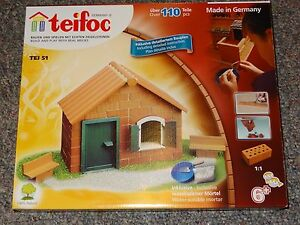teifoc TEI 51 Starter House Real Brick Construction Building Set Brick