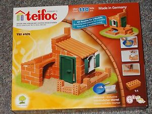 Teifoc 2 house construction Set Real Brick & Mortar Building Toy TEI 4105