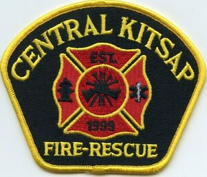 CENTRAL KITSAP WASHINGTON WA gold border Fire Rescue FIRE PATCH