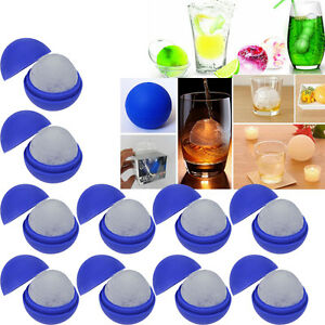 10x DIY Silicone Wars Death Star Round Ice Cube Mold Tray Desert Sphere Mould