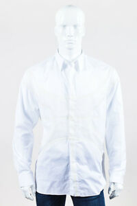 MENS Givenchy NWT $2090 White Poplin Mesh Basketball Panel Button Up Shirt SZ 41