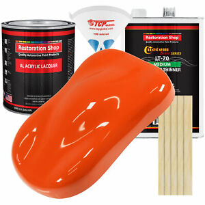 Hugger Orange Gallon Kit Single Stage ACRYLIC LACQUER Car Auto Paint Kit