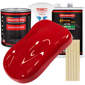 Torch Red Gallon Kit Single Stage ACRYLIC LACQUER Car Auto Body Paint Kit