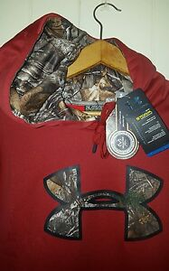 Under Armour Coldgear Storm Realtree Camo Pullover Hoodie: 2XL (NWT)