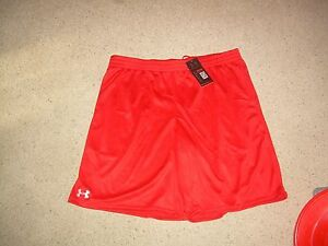UNDER ARMOUR Red Heatgear Loose Running Shorts XXL 2XL NWT NEW FREE SHIP