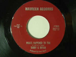 Barry Bryan 45 WHAT'S HAPPENED TO YOU bw GIRL WHO MADE ME CRY Detroit r+r duo