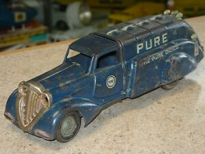 pure oil co pressed steel truck toy vehicle