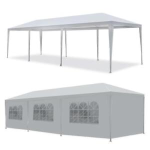 10#x27;x30#x27; Outdoor Canopy Party Wedding Tent White Pavilion 8 Removable Walls 8