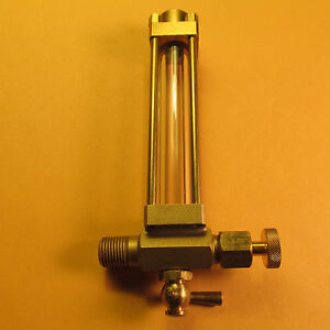 live steam water gauge 1 8 27 npt with drain