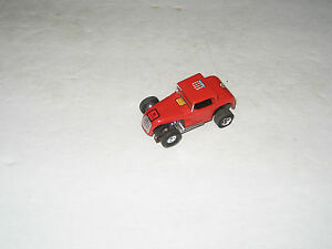 vib ho scale hot rod coupe red slot car
