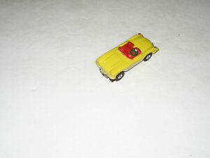 t jets ho scale yellow corvette convertible slot